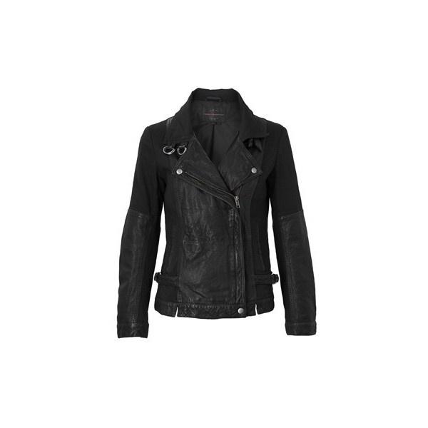 Dean Leather Biker Jacket ($465) found on Polyvore