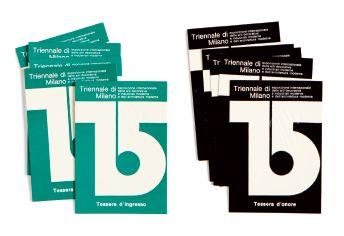 Giulio Confalonieri, XV Triennale La Triennale di Milano, 1973, courtesy Biblioteca del Progetto - La Triennale di Milano. #XVtriennale #graphic #ticket #1973