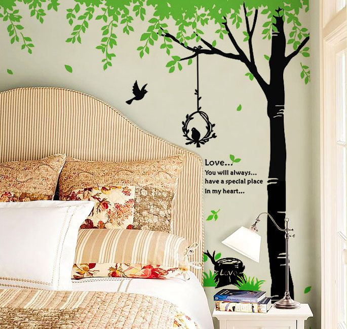 Birds U0026 Giant Tree Nature Wall Sticker