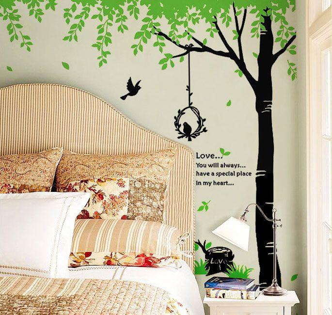 Birds U0026 Giant Tree Nature Wall Sticker Part 92