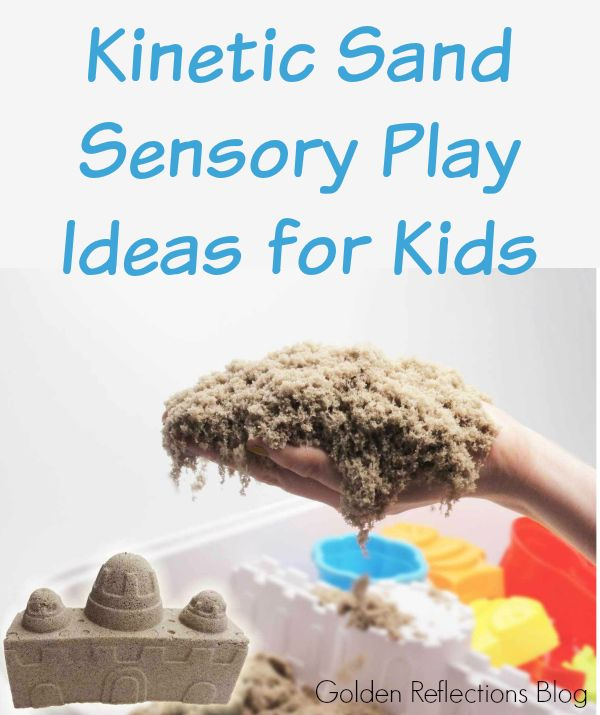k is for kinetic sand sensory play