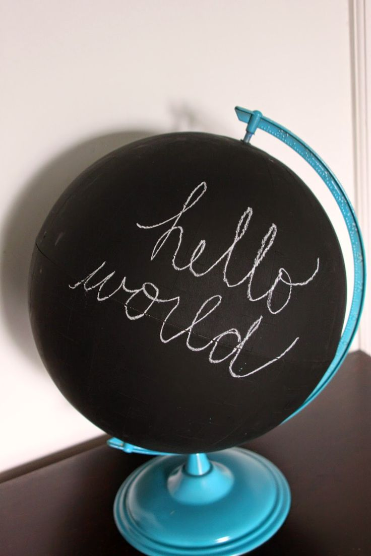 Chalkboard Globe Inspired by Land of Nod. $50 vs $2