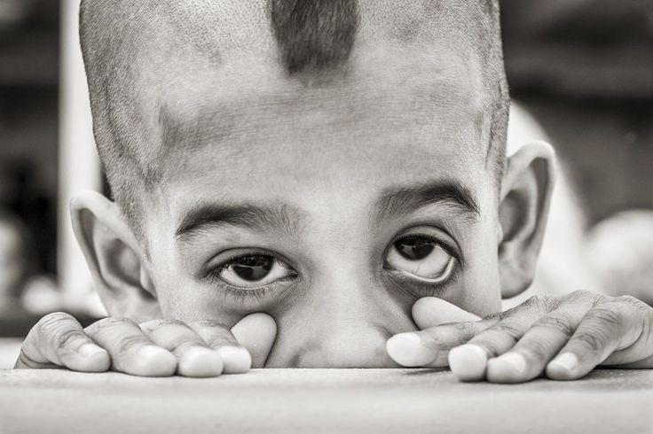 Photo #Vito Montemurro #children #portrait #hallowen #black #withe