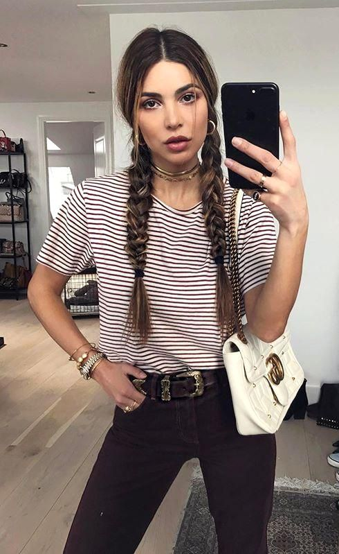 Negin Mirsalehi's pigtail braids | 35 cute summer hairstyles from models and IT Girls | 2017