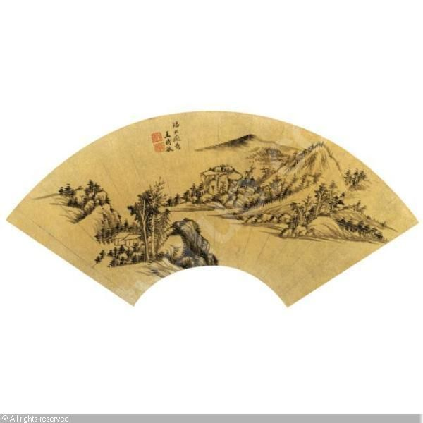 WANG SHIMIN, 1592-1680 (China) Title : LANDSCAPE AFTER HUANG GONGWANG (1269-1354)