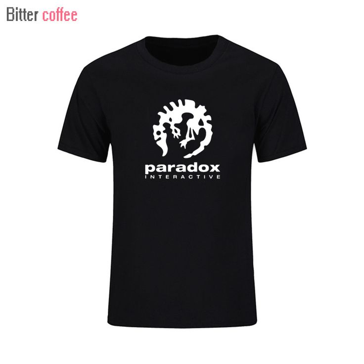 2017 Paradox Interactive Mens Fashion Sportswear T-shirt Short Sleeve Game Player O-neck EU size Black White t Shirt #Affiliate