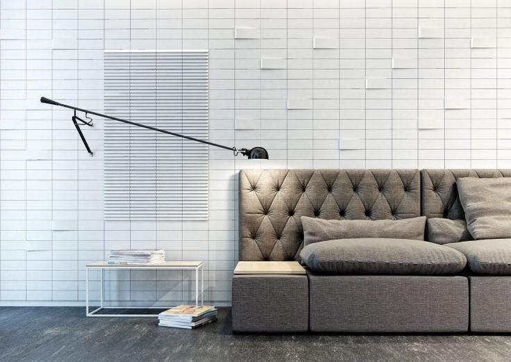 Livingroom interior with Form tiles