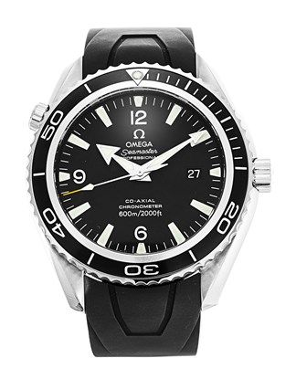 You want a rugged, no-nonsence, watch suitable for diving, with a reliable, Swiss automatic movement, without paying silly money? I give you the Omega Seamaster Planet Ocean (#2900.50.91)... 45.5mm steel case, a black, quarter Arabic and baton marker dial, with date window, on a rubber strap, tested to 600 metres. That should hold it!