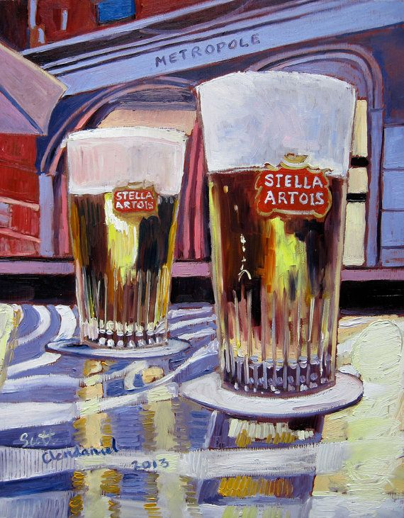 Beer Art Print of Stella Artois Beer from by RealArtIsBetter, $40.00
