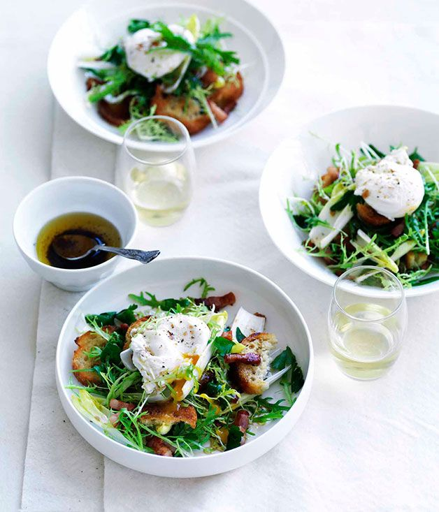 256 best salads images on pinterest clean eating meals drink and salade lyonnaise french recipespoached eggsfrench foodwhite winegourmet saladfood forumfinder Image collections