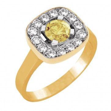 #Timanttisormus -  Fidzi - #MalminKorupaja. #Vihkisormus, #keltakulta, #keltainentimantti. #Diamond #ring by Malmin Korupaja. #Wedding ring with a #yellowdiamond, yellowgold.