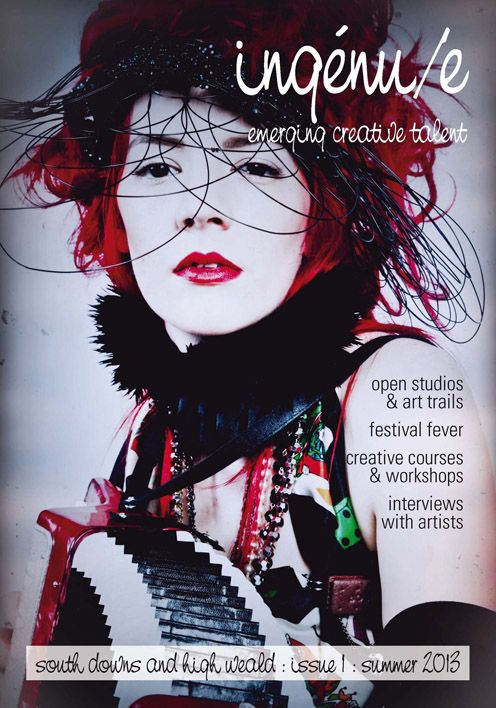 front cover of issue 1 of ingénu/e magazine. pictured: muso extraordinaire, Gabby Young