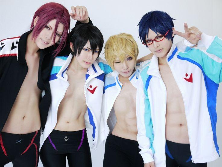 Haruka, Rin, Nagisa and Rei, Free!   AKITO - WorldCosplay