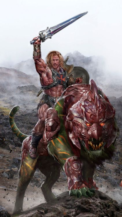 He-Man and Battle Cat - John Gallagher