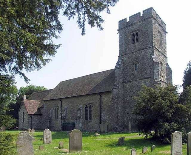 The church l was christened in.