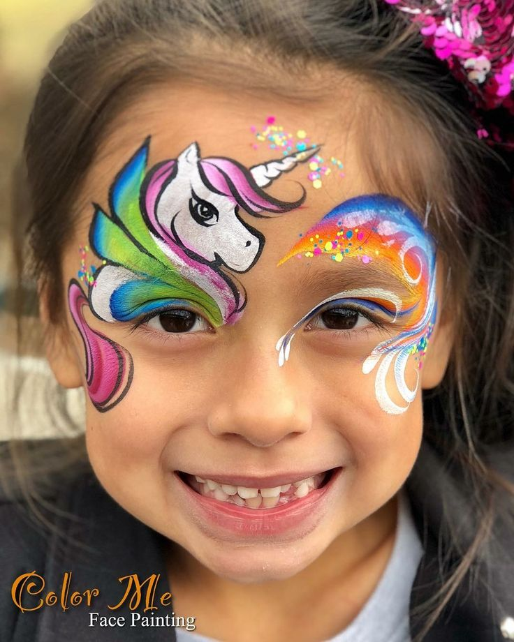 pinluisa goc on face painting  face painting unicorn