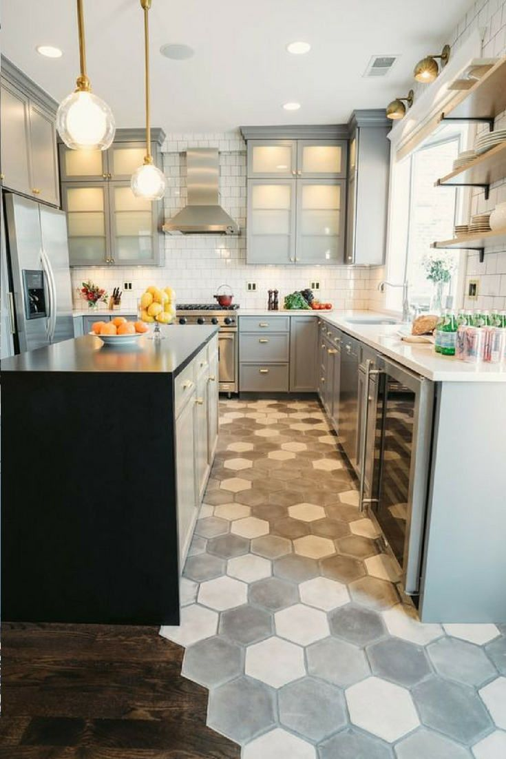 Friday Inspiration Stylish Kitchen Floors Hello Norden Contemporary Kitchen Kitchen Floor Tile Kitchen Design