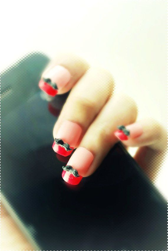 91 best short nails images on pinterest christmas nails 3d moustache nail designs for short nails nails loveitsomuch prinsesfo Image collections