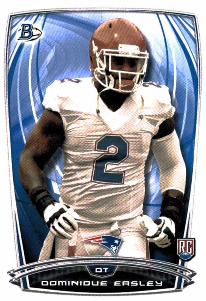 2014 Bowman Dominique Easley Rookie Card New England Patriots