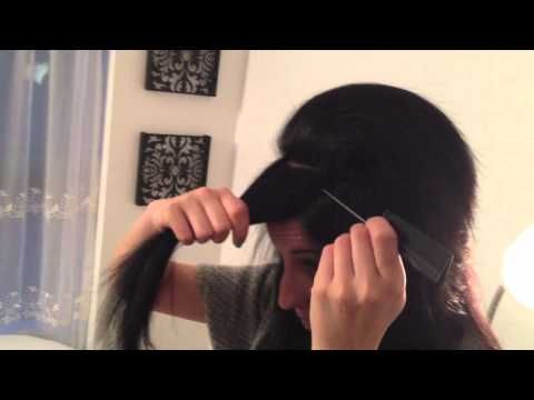 How to tease your hair properly! This helps a lot because I cant ever get my hair teased! :)