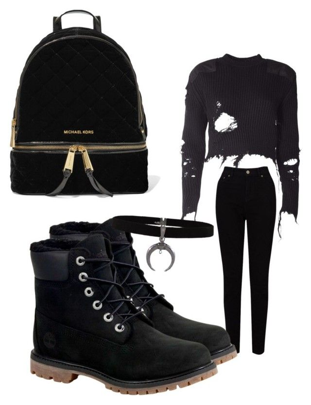 """""""Untitled #137"""" by adrianna-nicole-smith on Polyvore featuring adidas Originals, EAST, Timberland and MICHAEL Michael Kors"""