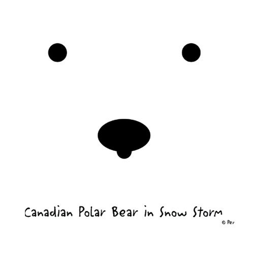 Canadian T-Shirt (Adult) - Canadian Polar Bear in Snow Storm - $19.95