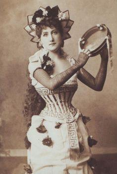 Victorian fancy dress: Greek column/dancer/goddess
