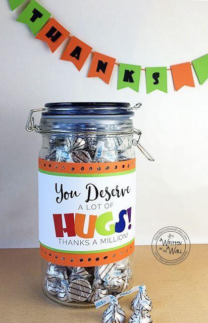 You Deserve A Lot of Hugs--teacher gift