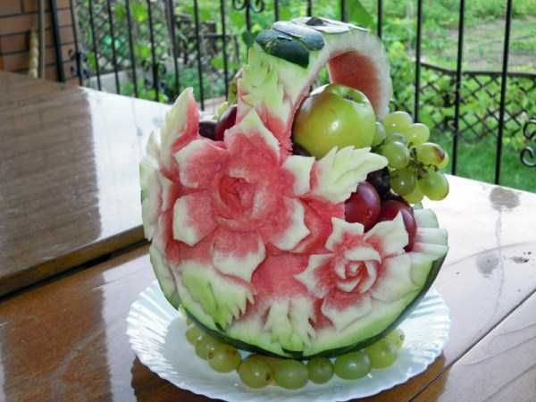 Fruit Basket  30 Awesome And Creative Watermelon Sculptures • Page 4 of 6 • BoredBug