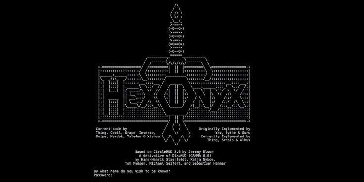 Amiga ASCII art from 1987