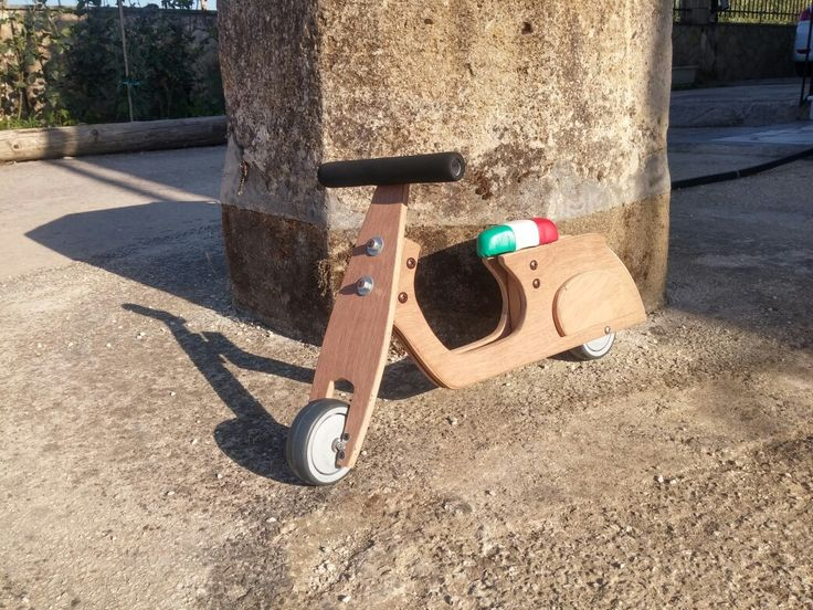 Wooden  balance bike vespa by #chrisauto