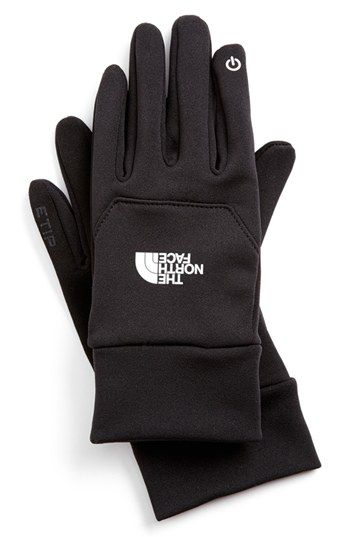 Free shipping and returns on The North Face 'eTip' Gloves at Nordstrom.com. Silicone-gripped, four-way stretch gloves are designed with a metallic conductive panel on the pointer finger, allowing you to continue using your touchscreen phone or media device without freezing your hands off in the chilly winter air.