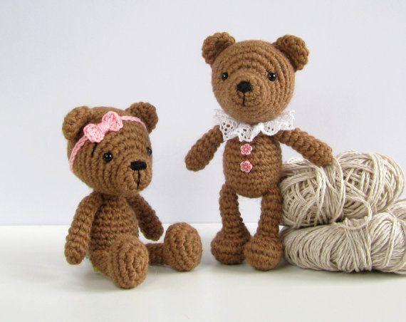 Motif : Petit ours en peluche - nounours Amigurumi pattern - bonneterie animal en peluche - peluche petit motif - fr-037