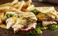 Grilled Chicken Flatbread - a fabulous pressed sandwich with a killer secret sauce. Inspired by a Longhorn Steakhouse classic.