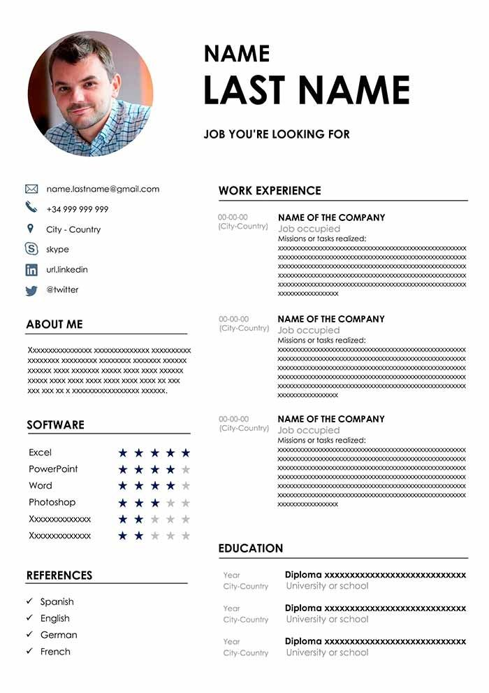 Cool About Me Cv Template Collection Di 2020 Dengan Gambar