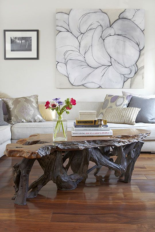 Before & After: Small Space, Big Changes. Tree Trunk Coffee TableWooden ...