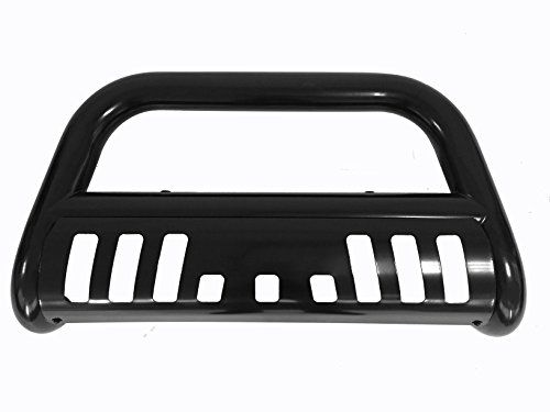 Bull Bar Skid Plate Front Push Bumper Grille Guard Black Steel for 1999-2006 Chevy Silverado/GMC Sierra 1500 HD/2500/2500 HD/3500 2007 Classic Body. For product info go to:  https://www.caraccessoriesonlinemarket.com/bull-bar-skid-plate-front-push-bumper-grille-guard-black-steel-for-1999-2006-chevy-silveradogmc-sierra-1500-hd25002500-hd3500-2007-classic-body/