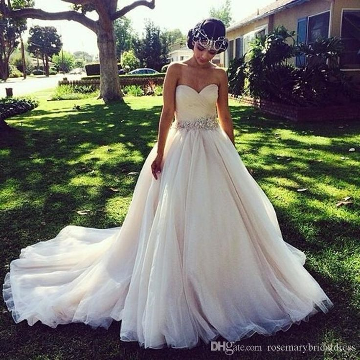 Princess Wedding Dresses With Crystal Belt Ruched Sweetheart V Backless Soft Color Country Rustic Bridal Dress Cheap Z942 Aline Dresses Aline Wedding Dresses From Rosemarybridaldress, $160.81  Dhgate.Com