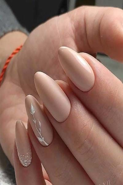 31 Pretty And Simple Nude Nail Art 2019 In 2019  Nails -9345