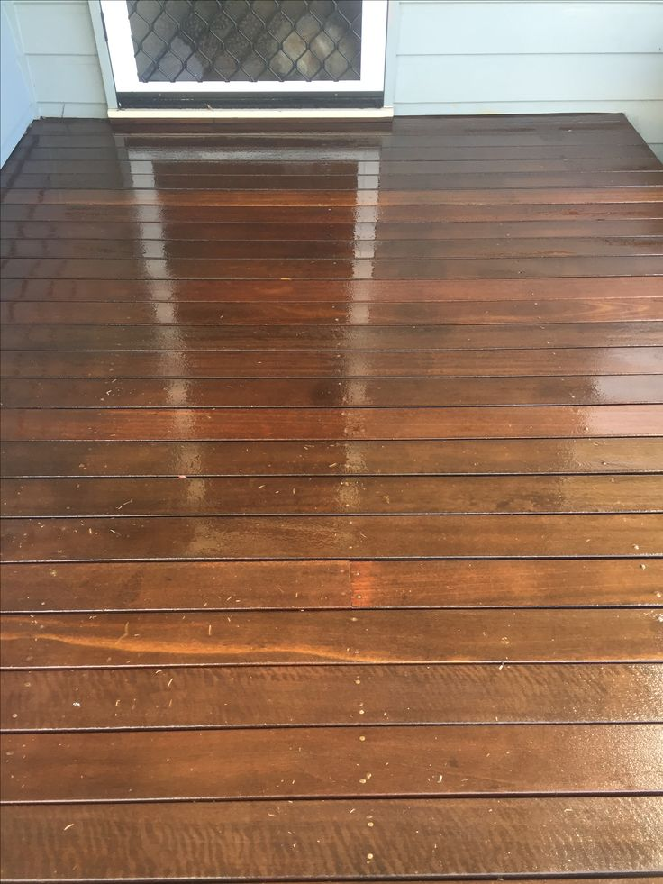 There is nothing like a freshly oiled timber deck.