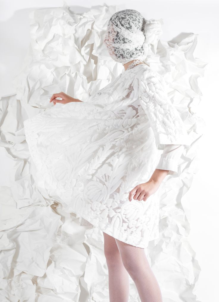 White editorial for Photography Mastered, inspired by AlexanderMcQueen