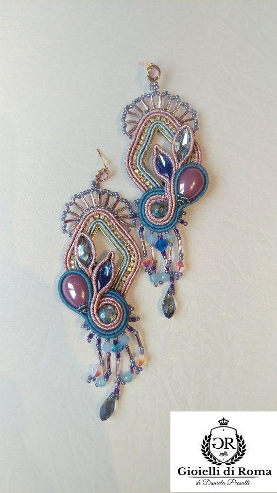Soutache earrings by GIOIELLIDIROMA on Etsy