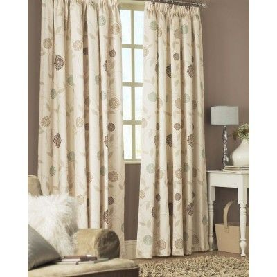 """Rosemont Ready Made Curtains Natural    - Fully lined pencil pleat curtains  - Available upto 108"""" drop"""