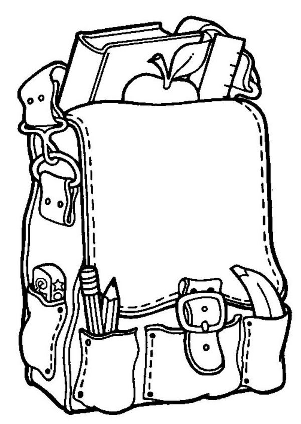 coloring page back to school back to school