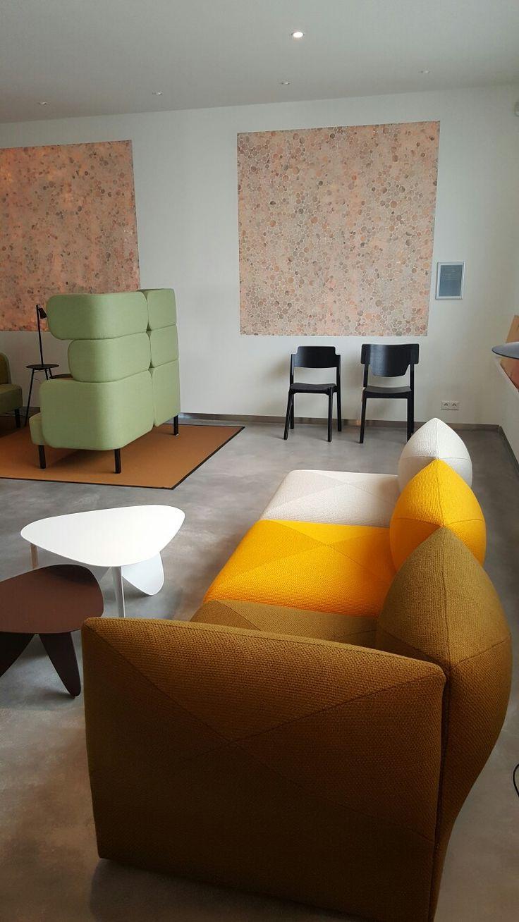 Blob modular sofa system by Jonas Ihreborn Design Helene Tiedemann  At new showroom of Duracryl Jonas Ihreborn contractfurniture - In Holland at Nordermöbler Scandinavian furniture