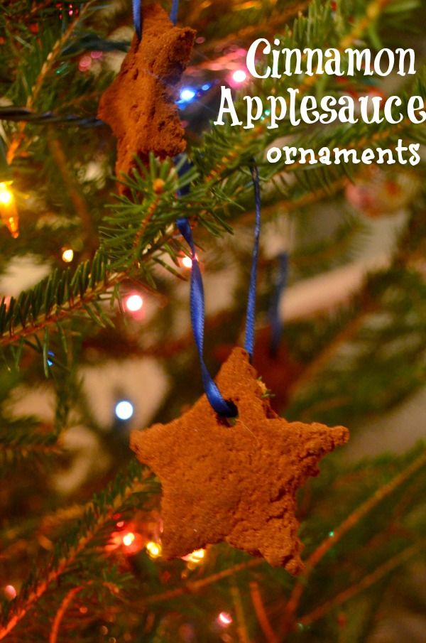 How To Make Cinnamon Applesauce Ornaments - easy, kid-made ornaments!