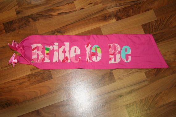 Bachelorette, Bride to Be, or Birthday Girl Sash made with Lilly Pulitzer First Impression fabric