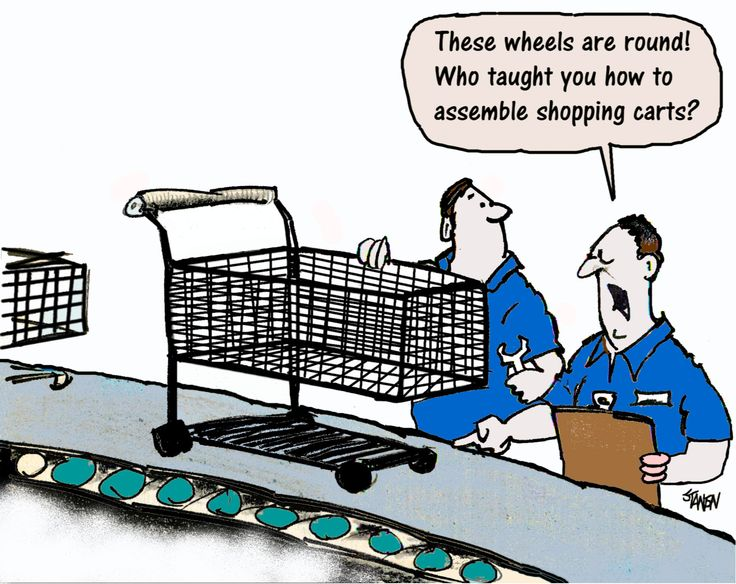 The reason why all shopping carts have bad wheels: