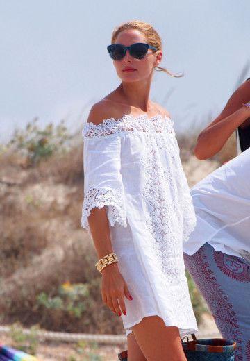 http://www.pensorosa.it/celebrities/tutti-i-look-di-olivia-palermo-in-vacanza.html Olivia-vestito-senza-spalline-bianco-pizzo