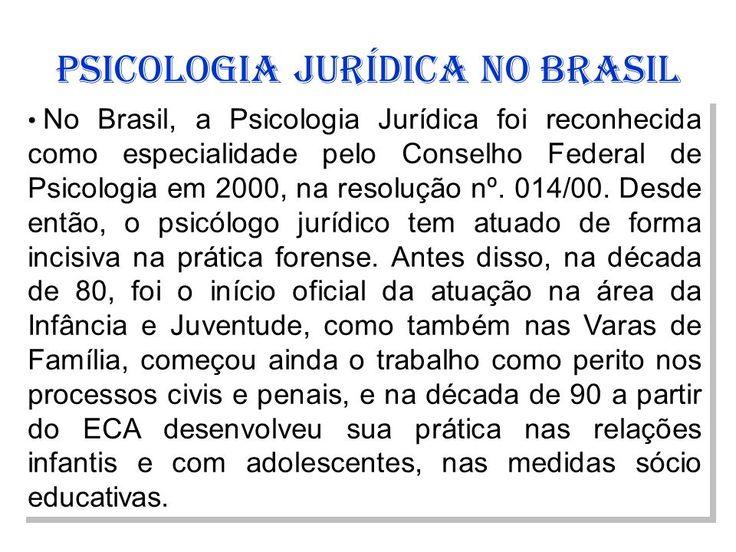 psicologia jurídica no brasil